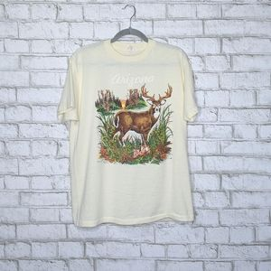 Vtg '89 Arizona Buck Deer Wildlife Single Stitch